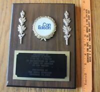 Con Edison Con Ed 25 Years of Service Bronx NY Vintage Wooden wall plaque award