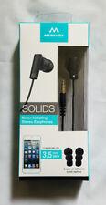 Merkury Innovations SOLIDS Noise Isolating Stereo Earphones 3.5mm jack NIB