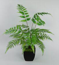 Farnbusch Natura 70x60cm im schwarzen Dekotopf CG Kunstpflanzen künstlicher Farn