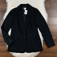 J. Crew Women's Size 4 Black One Button Blazer Jacket K2209