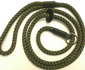 HANDMADE BRAID GUN DOG/PET SLIP LEAD NEW 8  MM x 145 CM LIGHTWEIGHT BUT STRONG
