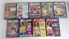 Jillian Michaels Lot of 9 different Fitness cardio weight loss Dvd's New