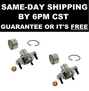 2 Front Wheel Hub and Bearing Assembly 518503 fits ESCORT TEMPO TOPAZ w/ 4 Lug