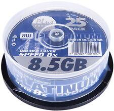 50 Platinum Rohlinge DVD R Double Layer 8,5GB 8x Spindel