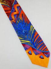 Rush Limbaugh Silk Tie w/chain Yellow Peacock Feather