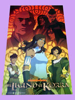 THE LEGENT OF KORRA sdcc 2014 Nickelodeon Original Exclusive Poster