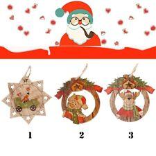 3pcs/Set Y Muñeco De Nieve Adornos De árbol De Navidad Colgantes De Madera