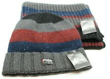 NWT PAJAR ROCKY HAT & SCARF SET - BLUE/GRAY/RED - O/S  (MSRP $60.00)