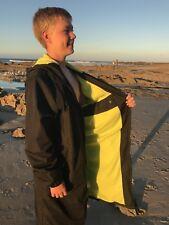 Swim Parka Wazsup Black with Lime Size L (Pool deck coat, swim jacket)