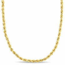14k Yellow Gold 22 Inch Rope Chain Necklace
