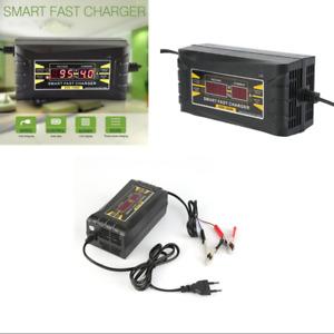 12V 10A AMP 20~150ah Smart LCD Display Car Motorcycle Battery Charger US Version