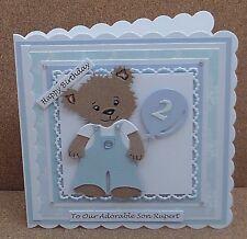 Personalised Bear Birthday Card Son Grandson Godson... 1st 2nd 3rd.. & Verses