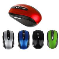 2.4GHz 1600DPI Mouse Ottico Senza Fili Mouse + Ricevitore USB Per PC Del