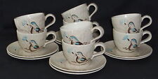 8 Red Wing BOB WHITE *CUPS & SAUCERS*
