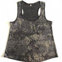 BKE Buckle Boutique Womens Size Small Black Metallic Tank Top Sleeveless