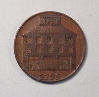 1799 Dublin Pantheon 1/2 Penny World Coin token Ireland Half