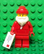 Lego Christmas Holiday Santa Claus w/ Letter & Candy Cane on is Back NEW