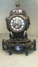 Antique Cast Iron Striking Mantel Clock
