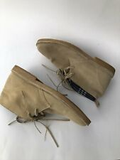 Steve Madden Size 12 Daiton Leather Lace Up High Top Shoes Tan Pre Owned