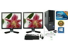 "HP-Dell Custom DESKTOP i7 8-16 Ram HD-SSD Windows 10 1-2 Monitor 19""-22"" Wifi"