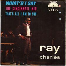 """RAY CHARLES """"WHAT'D I SAY / CINCINNATI KID"""" SOUL 60'S EP  VEGA 90.944"""
