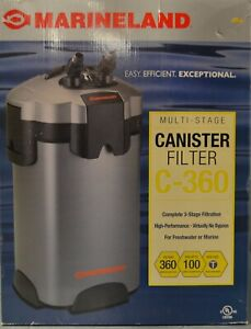 Marineland C-360 Multi-Stage Canister Filter For Aquariums Up To 100 Gallons NEW