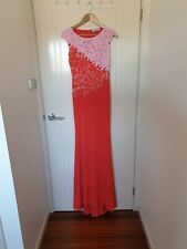 Blumarine coral sleeveless coral long dress size 40 Italian