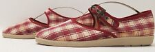 HUSH PUPPIES ladies womens checked Mary Jane shoes Size UK 7 EU 40.5