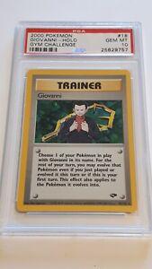 Pokemon gym challenge Giovanni holo rare 18/132 PSA10 Gem Mint