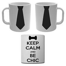 Mug Tasse Keep Calm and Be Chic Noeud papillon et Cravate noire