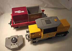 Playmobil City Action 5258 RC Train Güterzug Licht & Sound