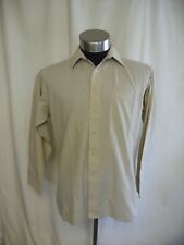 "Mens Shirt Pierre Cardin, collar 15.5"", beige cotton blend, regular fit 1027"