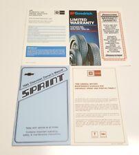1986 CHEVROLET SPRINT OWNERS MANUAL OPERATORS USER GUIDE BOOK OEM SET HATCHBACK