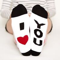 1 Pair Fashion Men Women I LOVE YOU With Heart Cute Autumn Spring Funny Socks