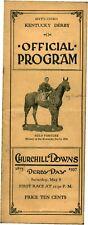 1937 Kentucky Derby Horse Racing Program  WAR ADMIRAL Triple Crown Winner
