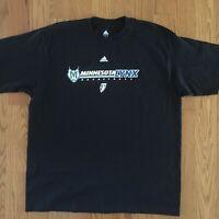 Minnesota Lynx Adidas T Shirt Sz L WNBA Basketball Black NWT
