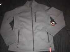 Swiss Tech Men's Size Small Gray Softshell Zip Front Jacket