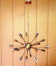 Nordic Mid Century Brass Sputnik Chandelier light fixture 18 Lights Home Decor