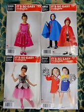 HALLOWEEN/CHILD/GIRL/DRESS UP /SIMPLICITY/ 4 PATTERNS UNCUT