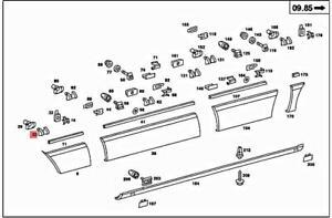 6pcs Genuine MERCEDES C126 R129 W126 W140 S-CLASS W126 W140 Clamp 0059889778