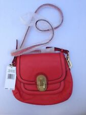 Calvin Klein Handbag Links and Locks Coral Crossbody X-Body Purse Leather New