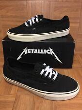RARE🔥 VANS Metallica Lars Ulrich Laceless Era Men's Shoes Sz 13 Black White LE
