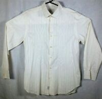 TOMMY BAHAMA Mens Embroidered Shirt Size M White DESIGN Textured Cotton Silk EUC