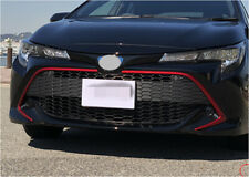 fits 2019 2020 Toyota Corolla Hatchback SE Red Front Lower Grille Molding Cover
