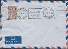 GREECE, 1953. Cover 514, N.A.T.O., Athens