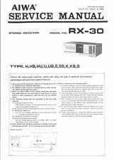 Aiwa Service Manual für   RX-30    .