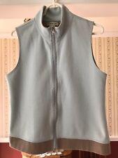 SALE! Orvis Women's Vest Top Reversible Zipper Sleeveless Blue Brown Stretch S