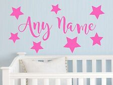 Personalised Stars Any Name Vinyl Wall Sticker Art Decal Kids Bedroom