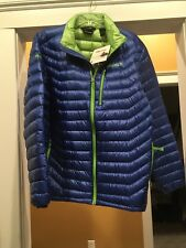 Mens Marmot Quasar Quilted Down Blue & Green Jacket XL Brand New With Tags 72220