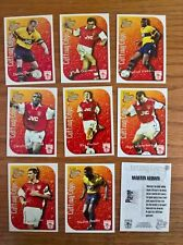 Futera football cards: Arsenal Cutting Edge insert chase set of 9 embossed